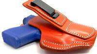 Tuck Tuckable Brown Leather Iwb Ccw Holster W/ Comfort Tab - Beretta 84 85