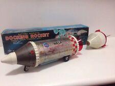 Daiya Antique  Japan 1960s Space Tin Toy 60s  Docking Rocket  Rare !!