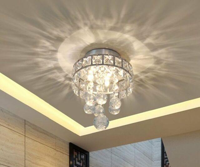 Vintage Chandelier 3 Crystal Light Pendant Room Ceiling Fixtures Chrome Finish