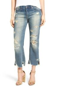 NWT-BLANKNYC-Denim-Distressed-Frayed-Uneven-Hem-Crop-Kick-Flare-Jeans-31
