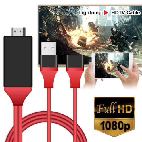 1080P HDMI Adapter Cable Office//TV//Computer For iPhone,Samsung//LG//All Cellphone