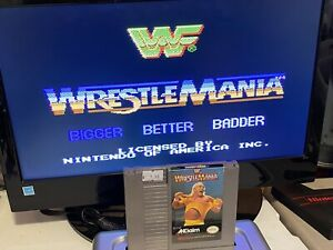 100-WORKING-NINTENDO-NES-SUPER-FUN-Game-Cartridge-CLASSIC-WWF-WRESTLEMANIA
