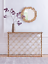 thumbnail 1 - Cox & Cox Stylish Gold Art Deco Slim Arch Mirrored Iron Console Table - RRP £295
