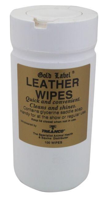 Gold Label Leather Wipes 100 Packs For Tack Saddles Bridles Glycerin Saddle Soap