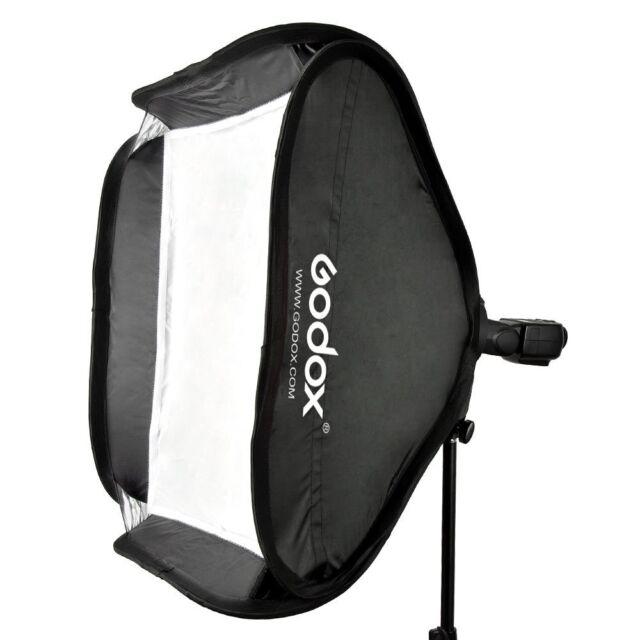 Godox 40x40cm Softbox Bag Kit for Camera Studio Flash fit Bowens Elinchrom Mount