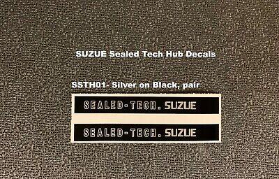 SUZUE SEALED TECH Old School Hub Decals 1 pair