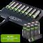 miniature 19 - Rechargeable Haute capacité AAA/AA Batteries Et 8-Way dock de chargement-Venom