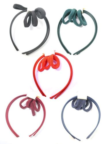 6 Pc Back to School Girls Hair Accessory Set Satin Alice Bands Ponios Bands