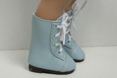 "LT BLUE LaceUp Boots Doll Shoes LL Fit 10/"" Ann Estelle Sophie Patsy DEBs"