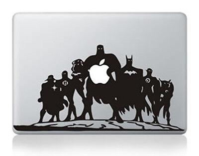 "1xSuper Hero Silhouette Apple Macbook Air/Pro 13"" Vinyl Sticker Skin Decal Cover"