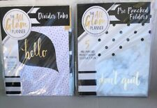 Pre-Punched 8 Pk NEW! MINI Divider Tabs 7x4.8in The All Glam Planner
