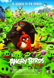 Poster manifesto originale film bimbi cartoni animati angry