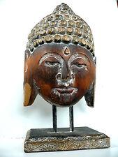 Buddha di legno statua etnico zen testa 40 cm