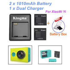 2 Kingma Batteries and Kingma Dual desktop charger for Xiaomi Yi Action camera