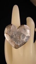 Silver Fashion Ring - Big Heart - Size 6