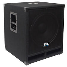 "Seismic Audio 15"" Pro Audio Sub Cabinet PA DJ PRO Audio B& Speaker New Sub  300W"
