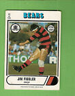 1976 SCANLENS RUGBY LEAGUE CARD #19 JIM FIDDLER, NORTH SYDNEY BEARS