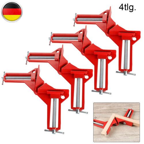 Winkelzwinge Schaubstock 4Tlg Gehrungszwinge 75mm Winkelspanner Winkel 90° Eck