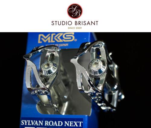 Industria almacenados MKS Sylvan Road Next pedales de aluminio pulido plata 3 F