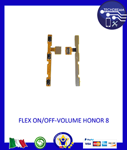 FLAT FLEX POWER TASTO ACCENSIONE ON OFF VOLUME PER HUAWEI HONOR 8A \ PLAY 8A