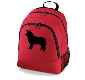 Collie-Dog-Backpack-Border-Bearded-Rough-Collie-amp-Sheltie-Black-Grey-Red