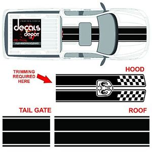 Dodge-Ram-Dual-Rally-Racing-Stripes-Vinyl-Double-Stripe-Decals-Decal-Sticker-NEW