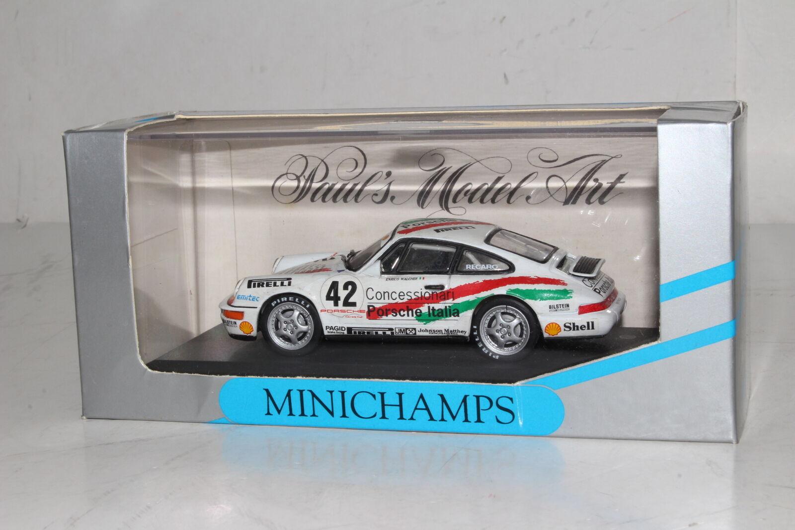 Minichamps de Metal Porsche 911 , Cup 1992 , E. Walcher Italia 1 43