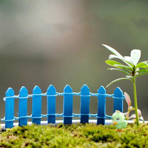 Wooden Mini Picket Fence Miniature Dollhouse Bonsai Craft Landscape Decor DIY YH