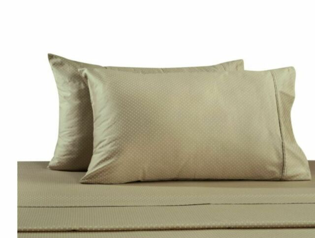 Set of 2 330 Thread Count Cotton Ikat Printed Standard Pillowcases in Blush