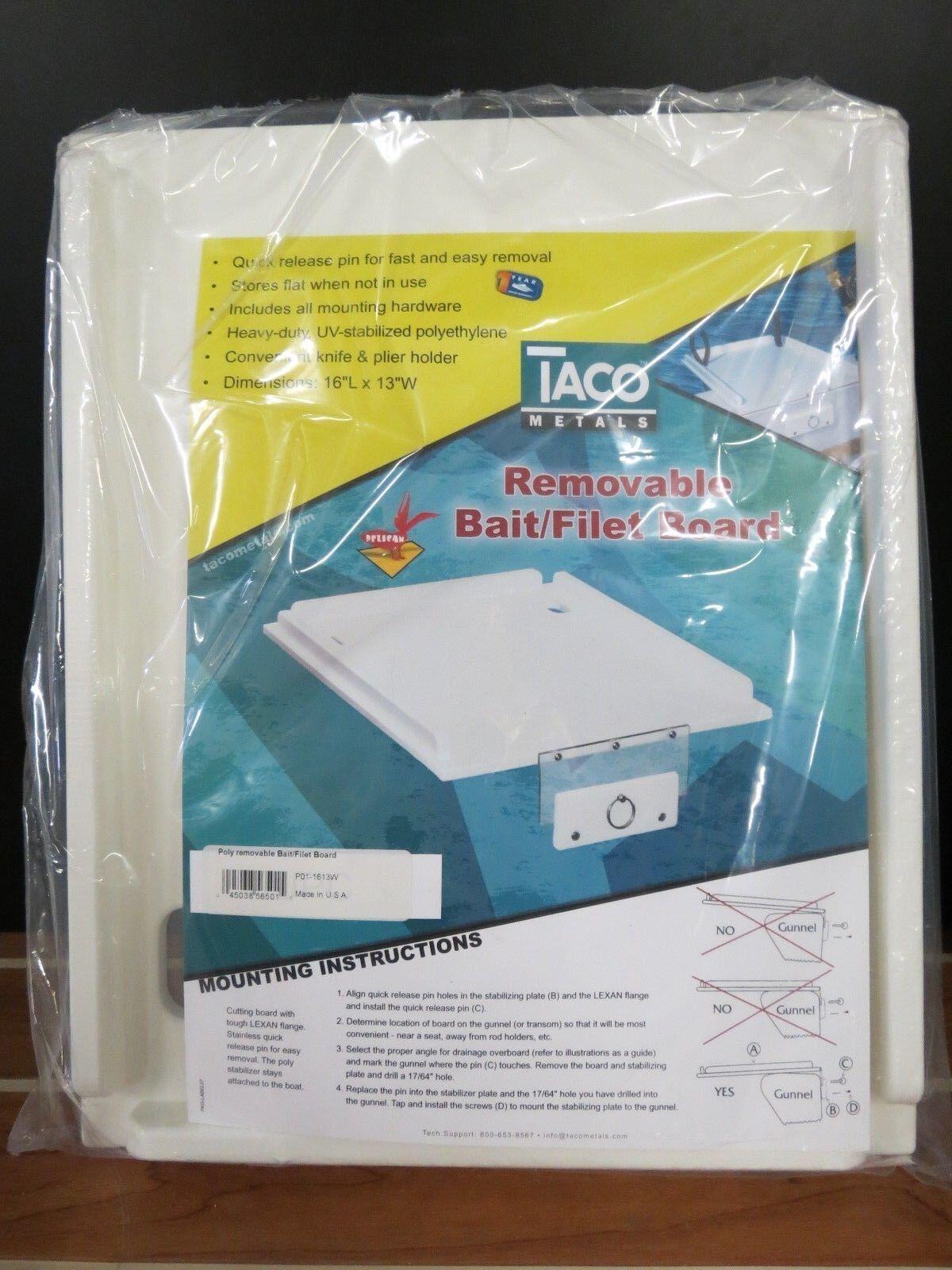 TACO METAL REMOVABLE  BAIT FILET BOARD  PO1-1613W  unique design