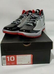 Definición Por mudo  Jordan AERO Flight 524959 084 Shoes New with Box - Size 10 - Silver, Red,  Black | eBay