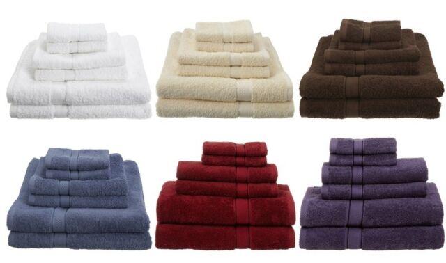 NEW 6 Piece 100% Egyptian Cotton 725 Gram Bath Towel Towels Set Different Color