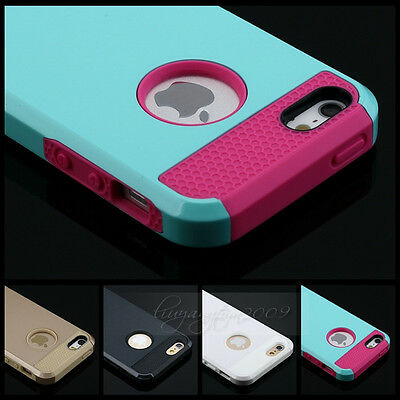 Shockproof Rugged Hybrid Rubber Hard Armor Case Cover for iPhone 6/6 Plus 5S 5C