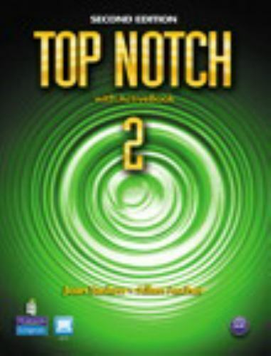 **LIKE NEW** TOP NOTCH 2 ENGLISH FOR TODAY'S WORLD with ACTIVEBOOK 2nd Edition