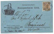 AR53 AUSTRIA Bohemia Solnice/Solnitz Bilingual CDS Postcard {samwells-covers}