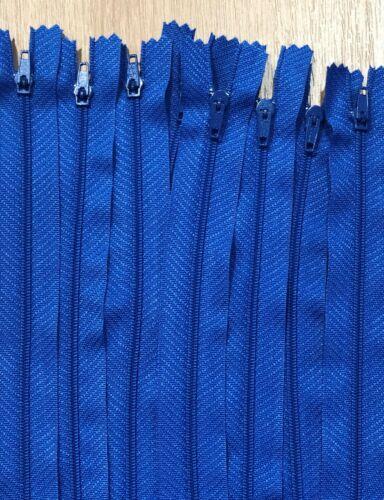 No.3 Royal Blue Nylon Fermé Fin Auto Lock Zip 10cm-56cm 1//5//10//25//50//100