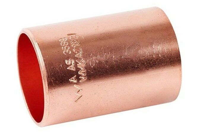 2x Ardent CAPILLARY W1 STRAIGHT SLIP COUPLINGS Copper- 15mm Or 20mm