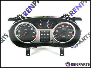 RENAULT-CLIO-II-PH2-2001-2006-1-2-16-V-Speedo-Tachimetro-Argento-Dash-8200059778