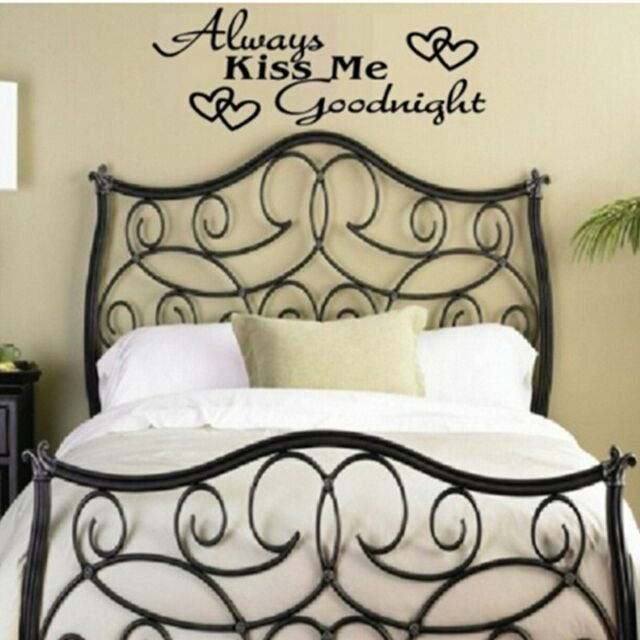 ALWAYS KISS ME GOODNIGHT Quote Words Removable Room Art Mural Wall Sticker Decal