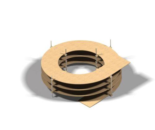 Sélectionnable pour H0 Voies 2-voies 8mm Piste en Spirale 1-5,5 Rotations