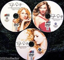 TAYLOR SWIFT 2006-2016 In-Store Promotional Music Video Reel 3 DVD Set 43 Videos