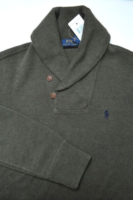 NWT Polo Ralph Lauren Men's Shawl Collar Pullover Cotton Sweat Sweater S