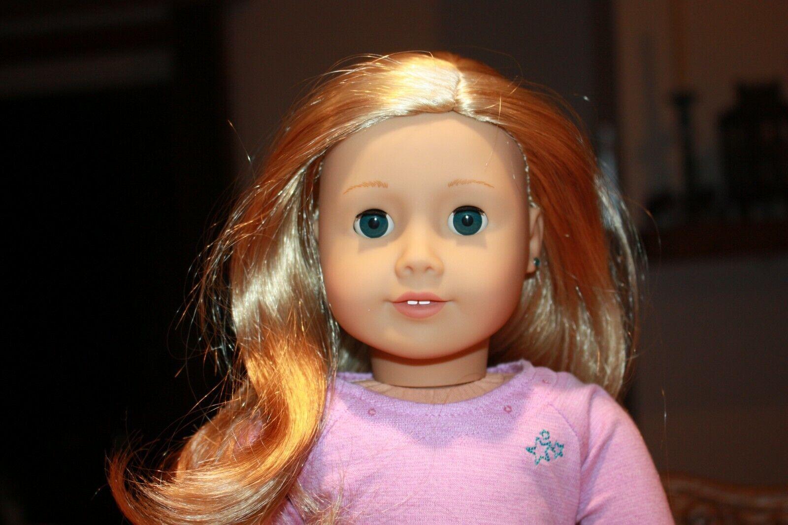 Nuevo American Girl realmente me 18  Muñeca LT Piel Cabello Rubio ojos azules pendientes Q