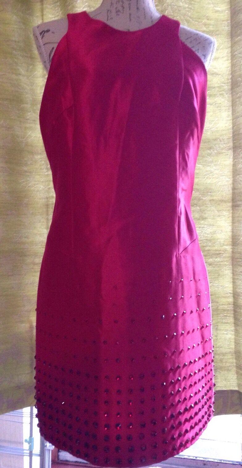 Stunning Designer Embellished Diamante Prom Evening Dress Size 16 New RRP