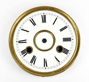 Altes-EMAIL-ZIFFERBLATT-D-132-Uhrenzifferblatt-f-Regulator-Wanduhr-Uhr-clock
