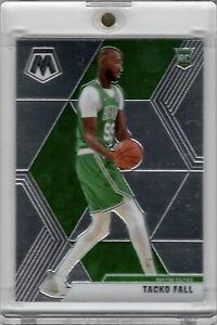 2019-20 Panini Mosaic #244 Tacko Fall Rookie Card Base Chrome Boston Celtics