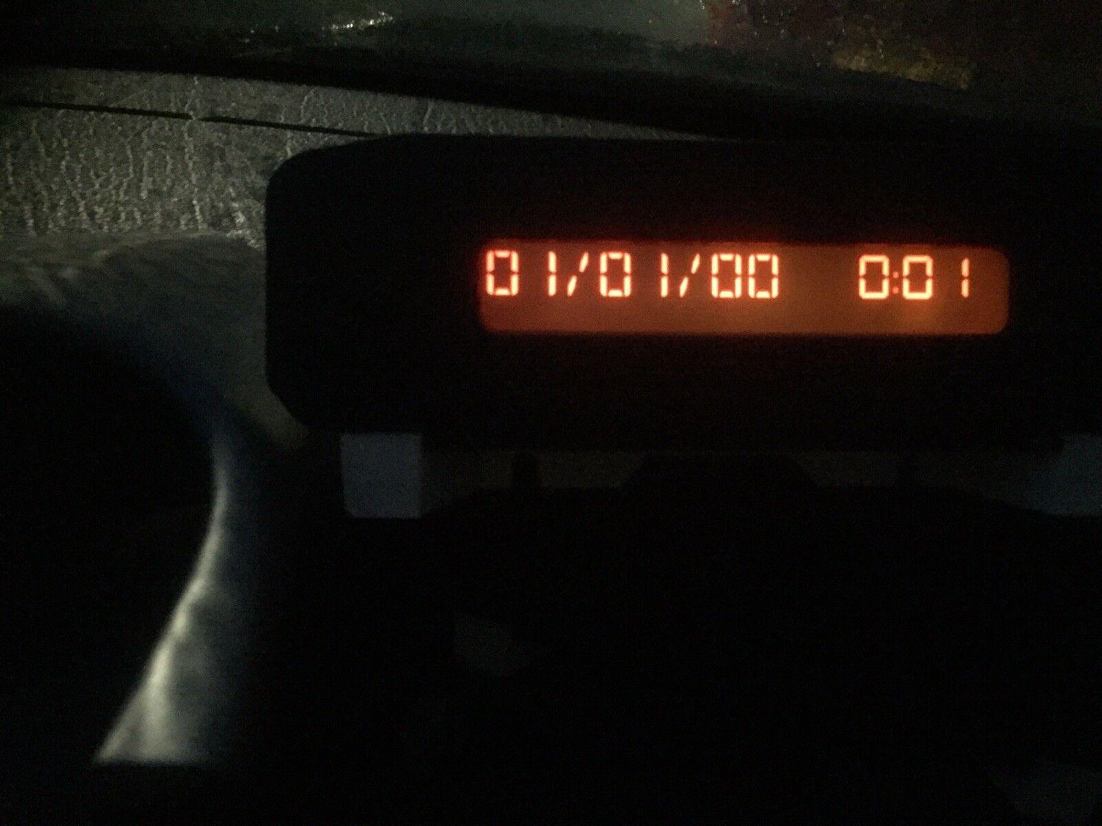 PEUGEOT 206 DASHBOARD DISPLAY INFO SCREEN CLOCK 96564642XT