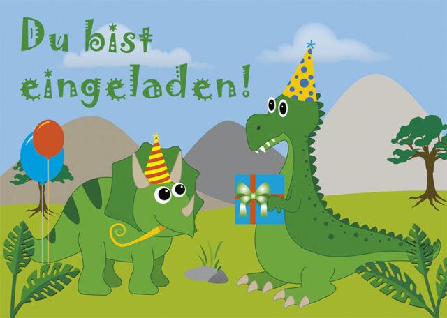 10 postkarten einladungskarte kindergeburtstag dino party