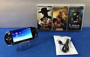 CONSOLA SONY PLAYSTATION PORTABLE PSP 3000 + PELICULAS UMD X3 CARGADOR
