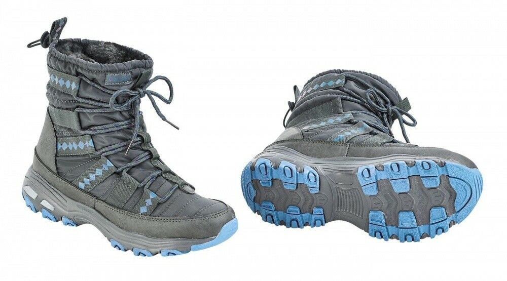 Winter Thermo schuhe Burnaby Buses grau Ice Blau NEW